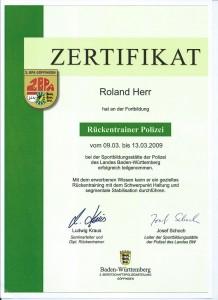 Rückentrainer Roland