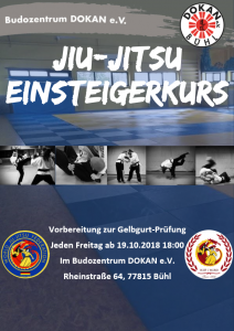 Einsteigerkurs Jiu-Jitsu @ Budozentrum DOKAN e. V. | Bühl | Baden-Württemberg | Deutschland